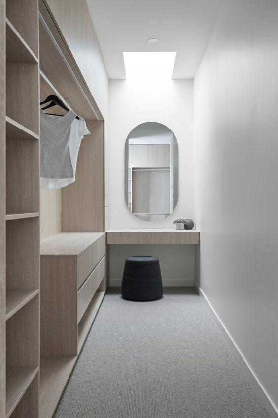 cozy minimalist walk-in wardrobe ideas
