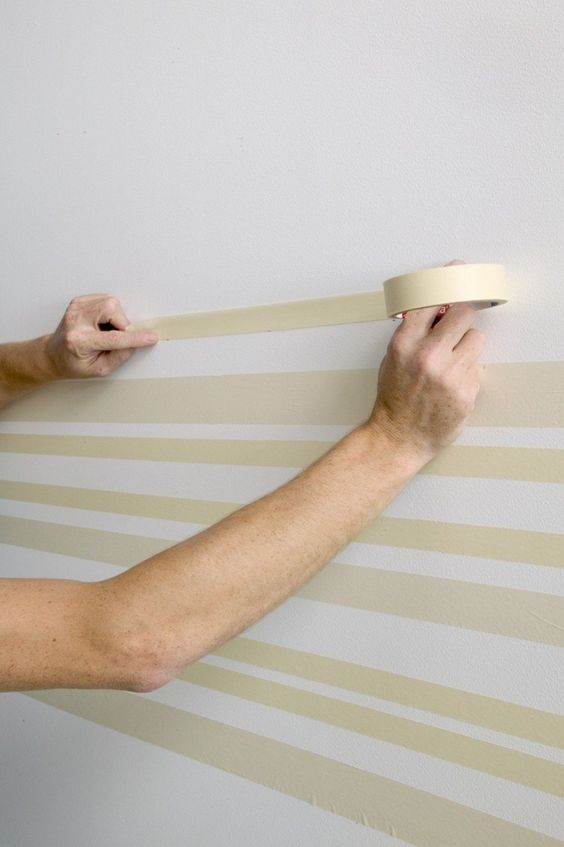making the clean line strip paint