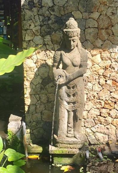 Balinese garden statue Sri Dewi Rice Water Feature