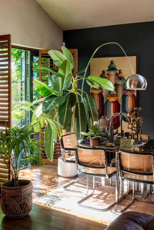 eclectic style with natural color tones