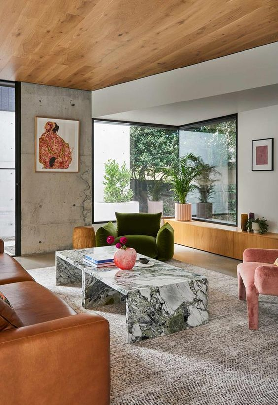 eclectic style in concrete house