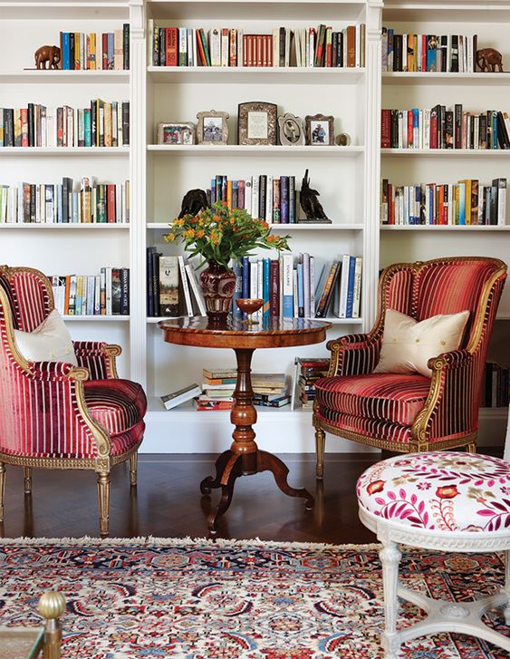 English eclectic living space design