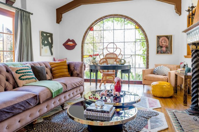 eclectic contemporary interior design