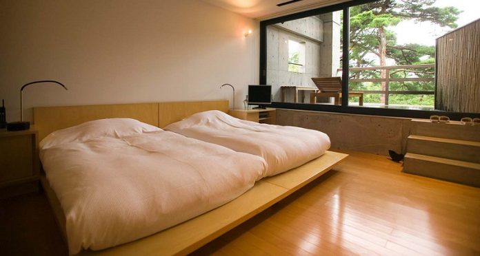 beautiful and simple Japanese bedroom design