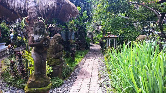 Balinese tropical garden