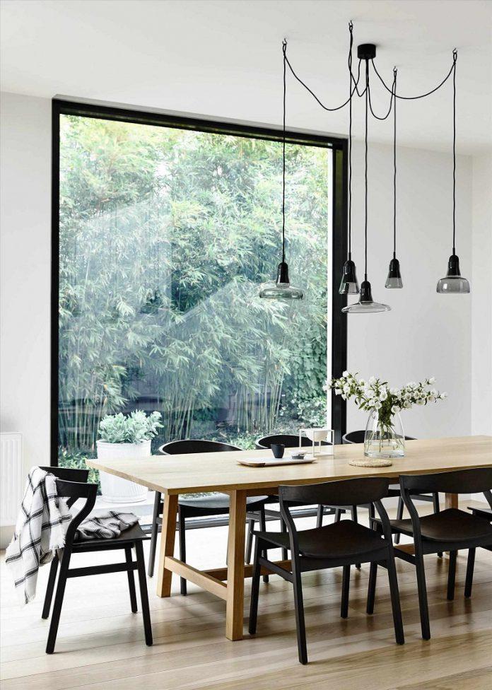 cozy Scandinavian dining room decor