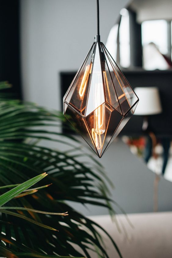 geometrical glass pendant lamp for a luxury house decoration