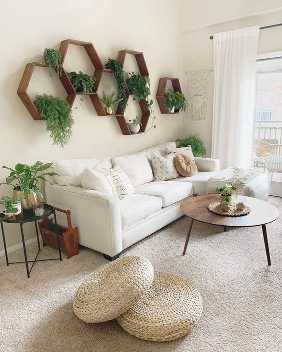 greenery corner in Scandinavian living room