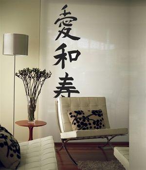 meaningful Kanji decoration Japanese house