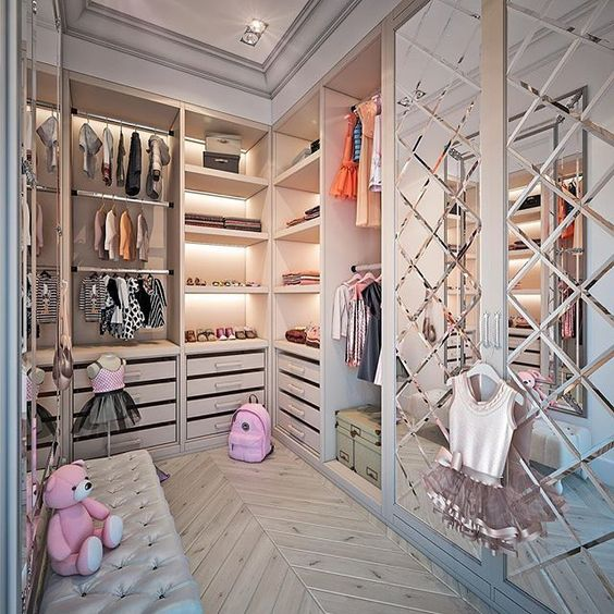 cozy kids walk in wardrobe