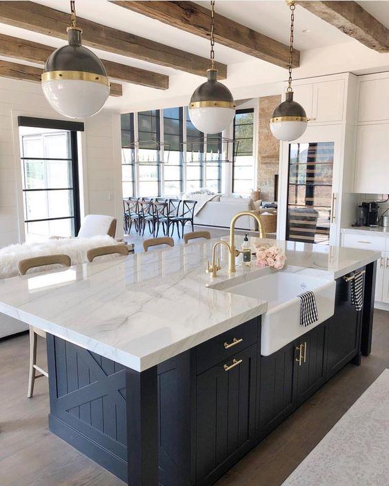 log cabin ceiling idea for coastal kitchen