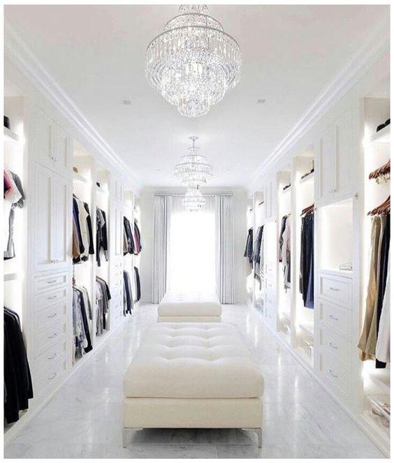 luxurious walk-in wardrobe
