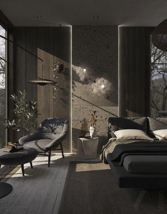 exotic black bedroom