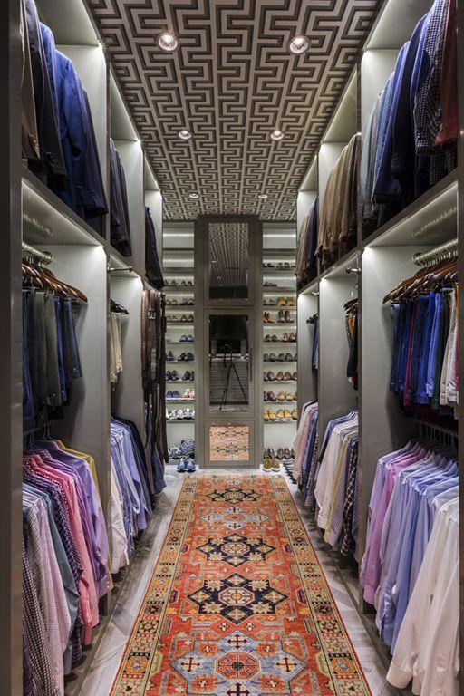 classic walk-in wardrobe idea