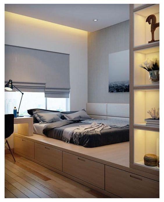 cozy modern Japanese bedroom