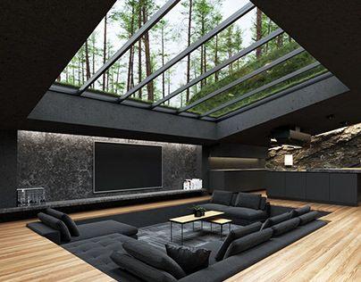 open sky ceiling design