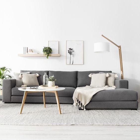 Scandinavian sofa for a cozy living room