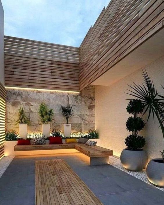 low maintenance minimalist garden