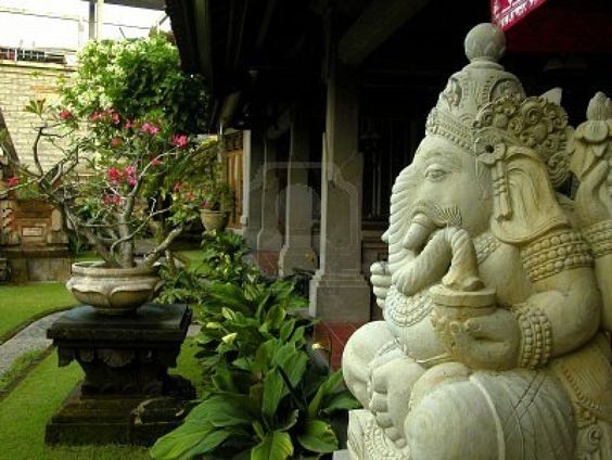 statue in Balinese decoration