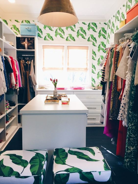 tropical walk-in wardrobe ideas