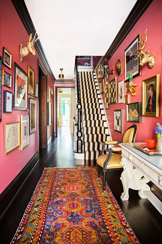 eclectic wall gallery art
