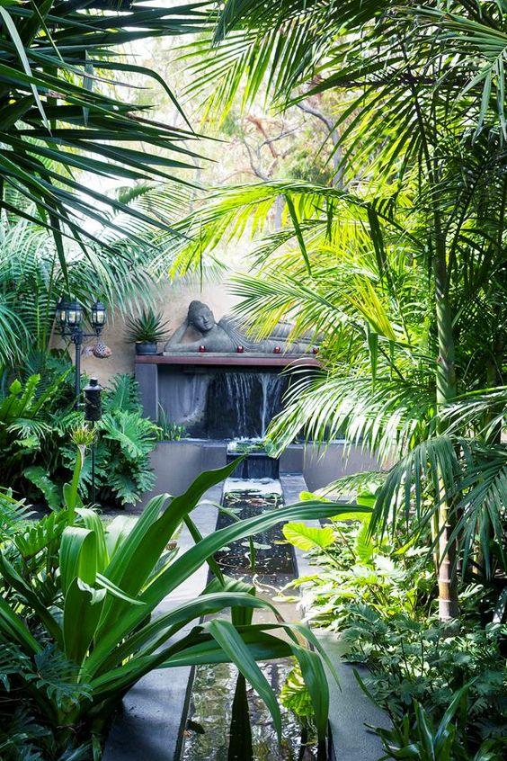 water element in Balinese garden
