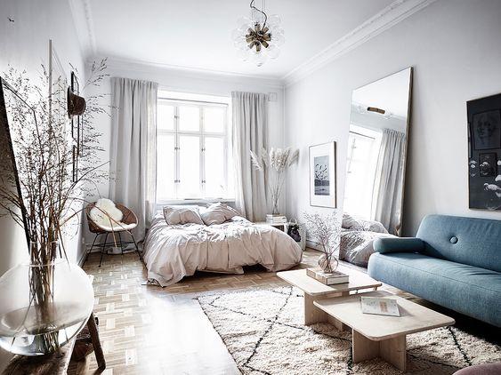 cozy Scandinavian studio apartment