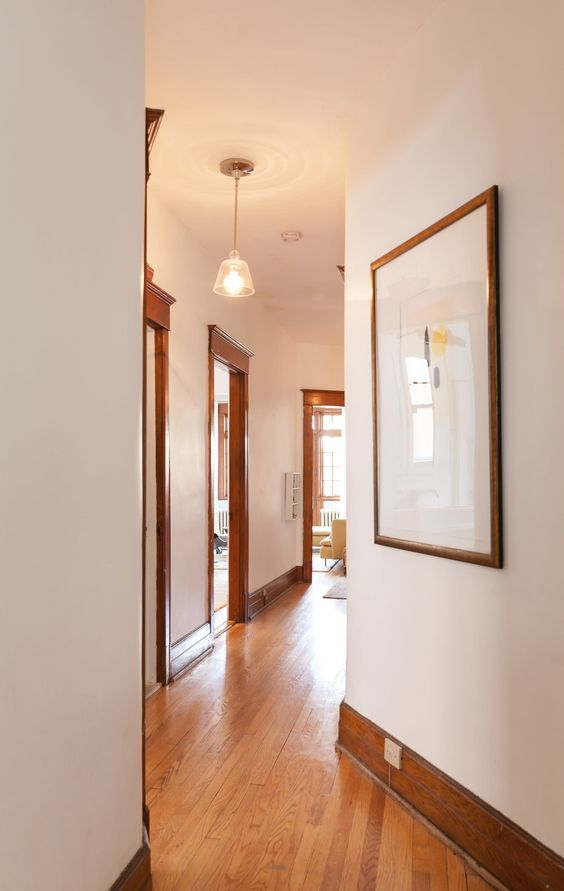 wooden flooring for the second floor two-storey house design