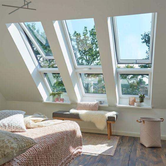 Scandinavian loft bedroom style