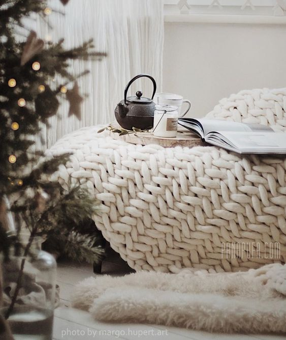 warm and quality textiles in Scandinavian interior