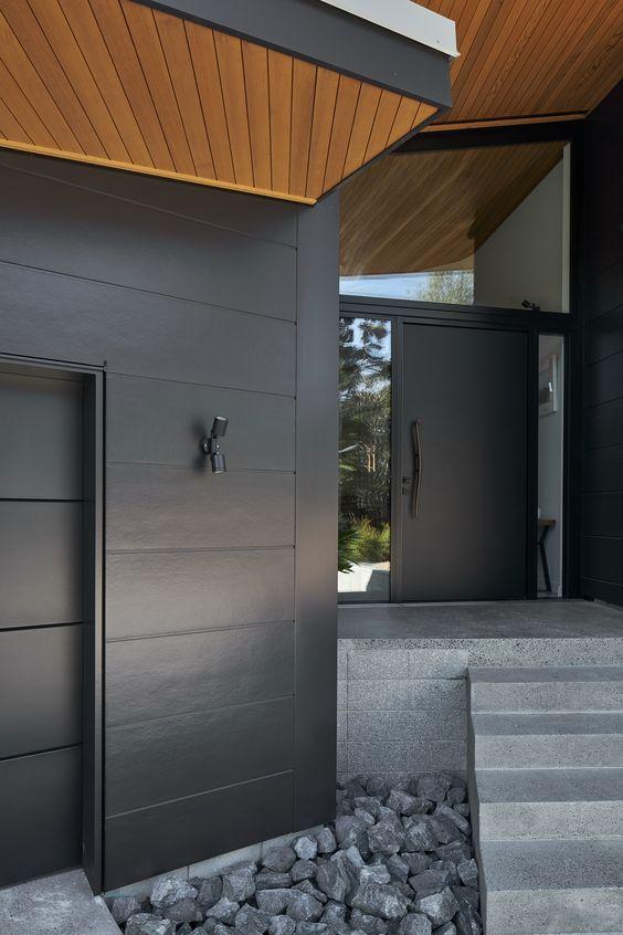 timber and cladding featur in Scandinavian exterior design