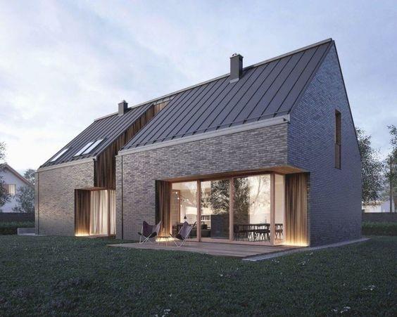 Gray Scandinavian home exterior