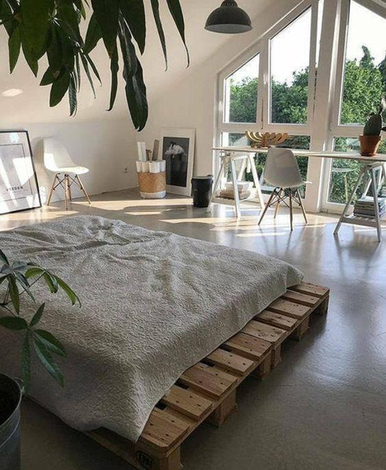 natural loft bedroom style