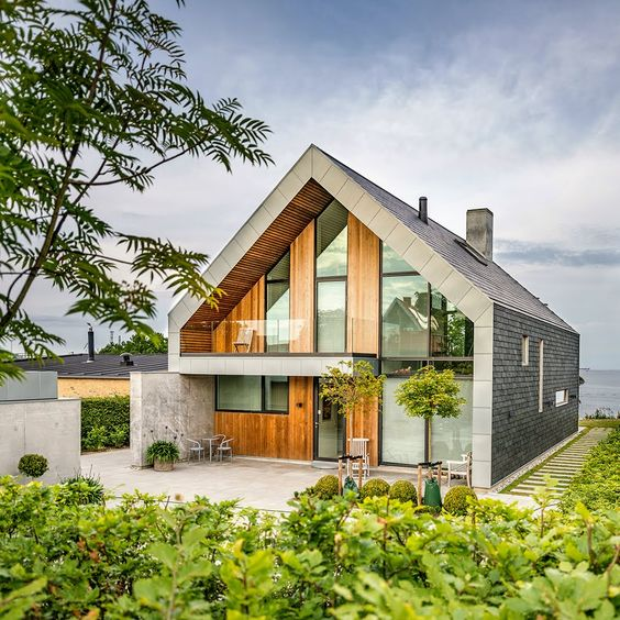 Scandinavian home with natural slate