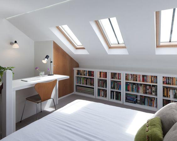 library loft bedroom style