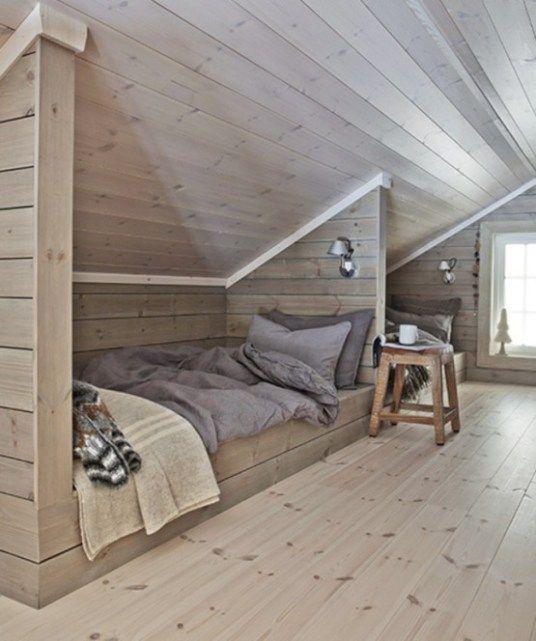 peaceful nordic attic bedroom style