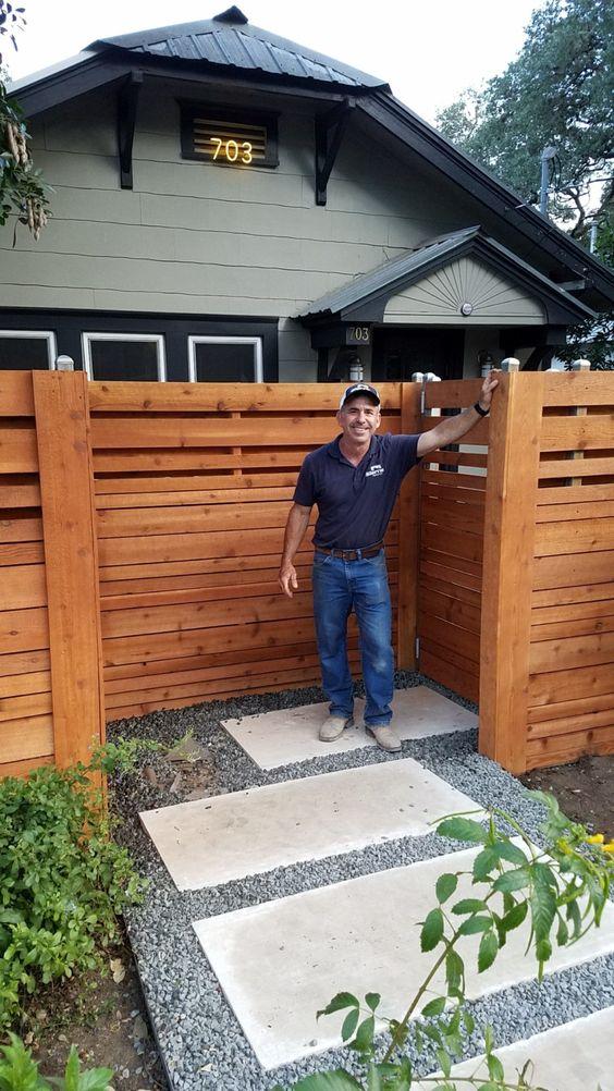 cedar wood fence idea