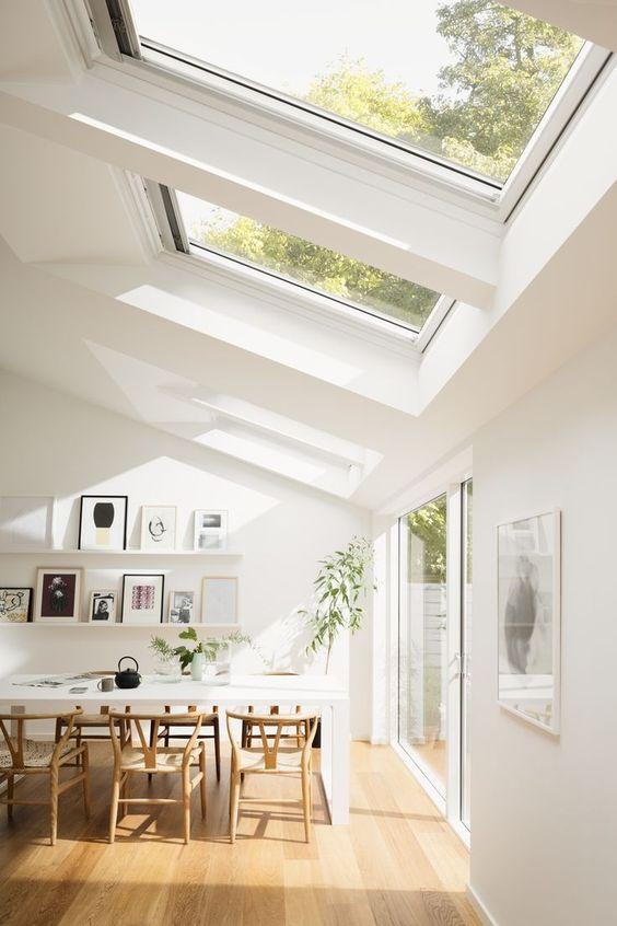 plenty of natural light in Scandinavian interior