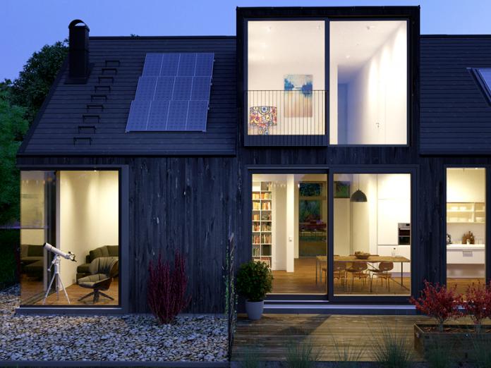 natural materials in Scandinavian exterior design