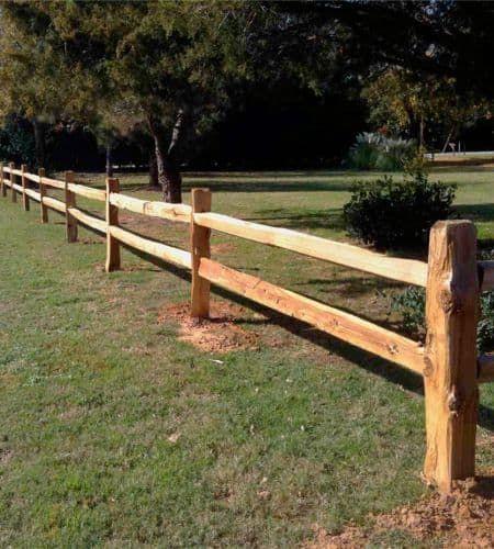 split rail fence idea