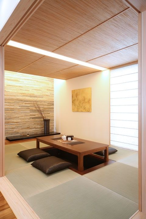 super sleek Japanese dining room style