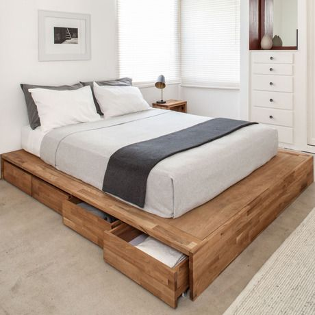 platform bed with storage to save the space