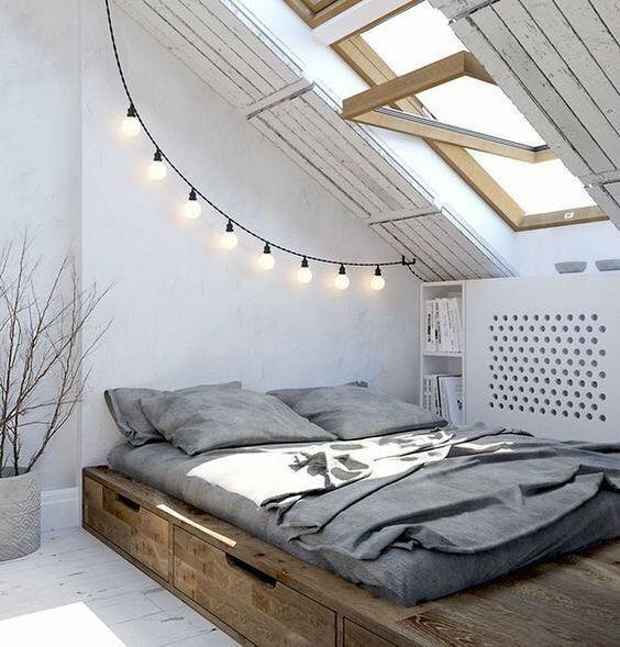 lovely attic bedroom decoration