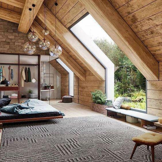 organic dreamy loft bedroom idea