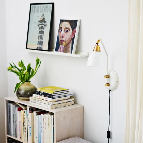wall lamp to utilize the space