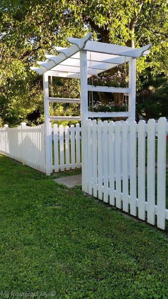 picket fence to beautify garden