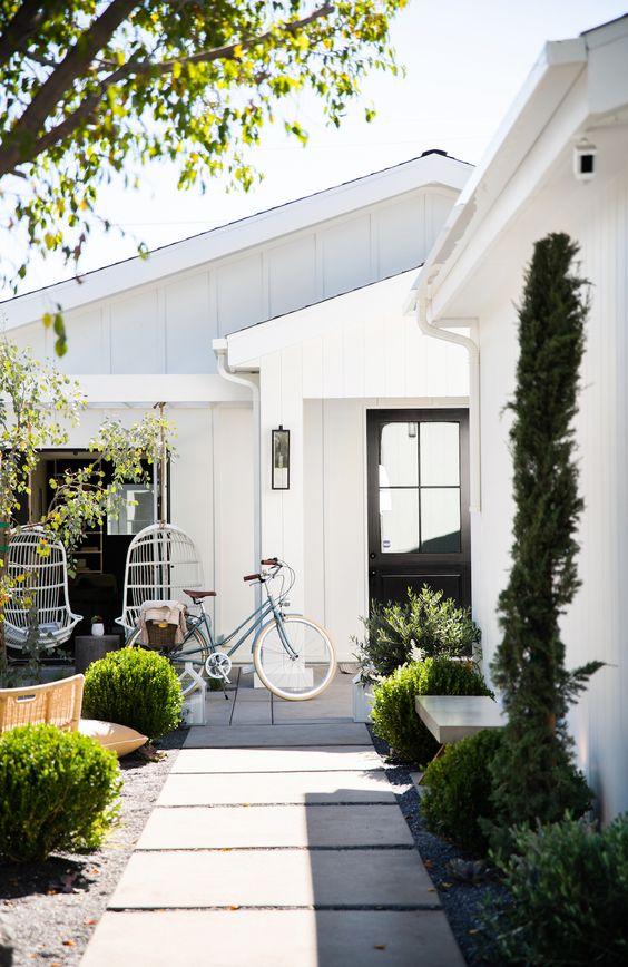 white Scandinavian exterior home exterior