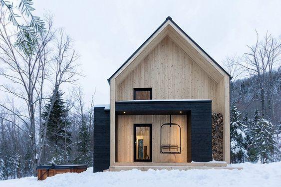 lightwood material for Scandinavian exterior