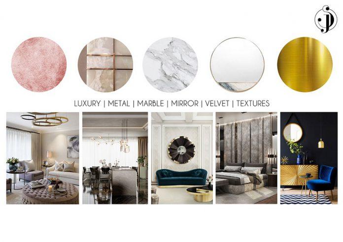 masculine mood board palette modern interior design