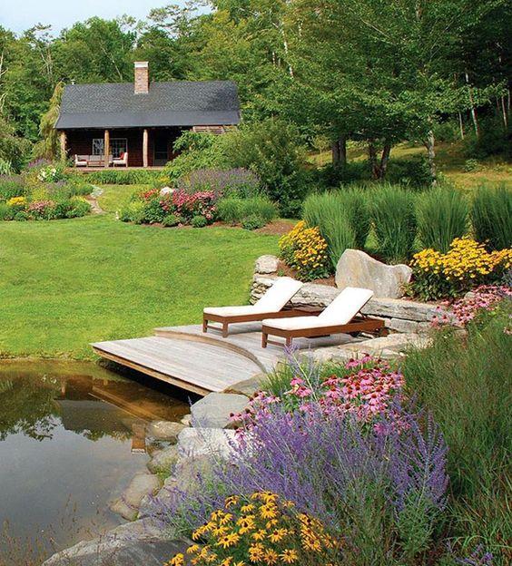 Scandinavian landscaping with shrubs and perennials